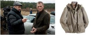 Barbour jacket suits Bond on the set of Skyfall