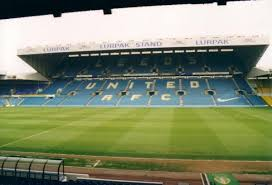 The main cantilever stand at Elland Road, the football stadium which is the home of Leeds United